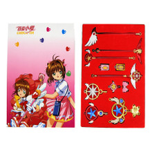 Blue Star Key, Wand & Staff - Cardcaptor Sakura 11 Pcs. Necklace Set