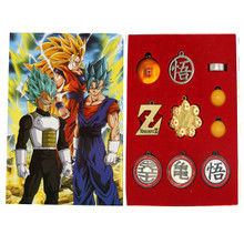 Symbols & Balls - DragonBall Z 10 Pcs.Necklace, Keychain & Ring Set