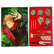 Hand Signs Weapons & Broom - Jujutsu Kaisen 13 Pcs. Necklace Set
