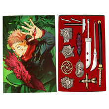 Hand Signs Weapons & Doll - Jujutsu Kaisen 13 Pcs. Necklace Set