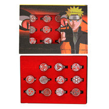 Dojutsu Symbol Ring Set - Naruto 11 Pcs. Necklace Pendant Set