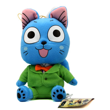 """Happy Green Suit Sit - Fairy Tail 8"""" Plush (Great Eastern) 52165"""