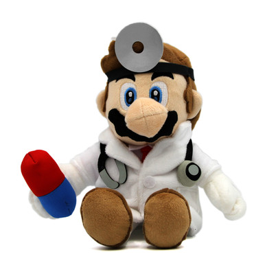 "Dr. Mario - Super Mario Bros 9"" Plush (San-Ei) 1824"