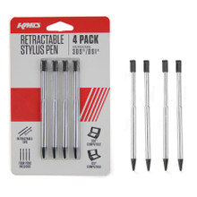 3DS Retractable Stylus 4 pack - Aluminum (KMD) KMD-3DS-9791