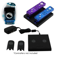 Wii Dual Charger Dock Motion Plus Compatible - Black (Psyclone)