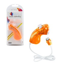 Wii Wired Rock Candy Nunchuk Controller - Orange (PDP) PL8580O