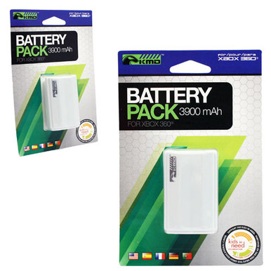 Xbox 360 Rechargeable Battery Pack - White (KMD) KMD-360-3989