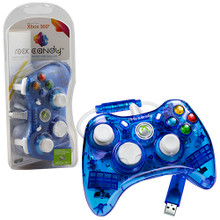 Xbox 360 Wired Rock Candy Controller Pad - Blue (PDP) PL-3760
