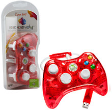 Xbox 360 Wired Rock Candy Controller Pad - Red (PDP) PL3760R