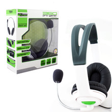 Xbox 360 Pro Gamer Wired Headset w/ Mic - White (KMD) KMD-360-0868