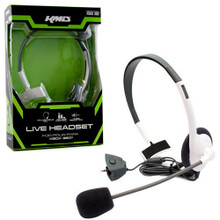 Xbox 360 Small Wired Headset w/ Mic - White (KMD) KMD-360-1521