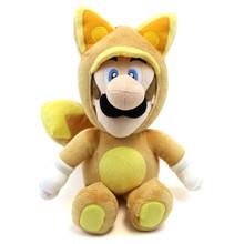 """Kitsune Fox Luigi - Super Mario Bros 13"""" Plush (San-Ei) 1273"""