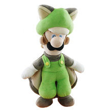 """Flying Squirrel Luigi - Super Mario Bros 15"""" Plush (San-Ei) 1313"""