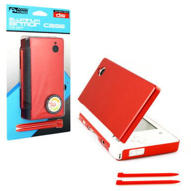 DSi Aluminum Case & Dual Stylus Set - Red (KMD) KMD-DSI-0148