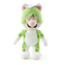 """Cat Luigi - Super Mario Bros 14"""" Plush (San-Ei) 1376"""