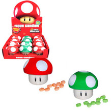 Super Mario Mushroom Apple & Cherry Sour Candies 12 Pcs. Set (BA)