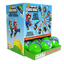 New Super Mario DS Touch Pens & Screen Cleaners Gacha Ball 18pc (Tomy)