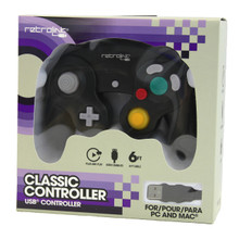 Gamecube USB Controller - Black (RetroLink) RB-PC-722