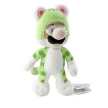 """Cat Luigi - Super Mario Bros 10"""" Plush (San-Ei) 1372"""