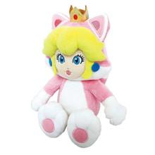"""Cat Peach - Super Mario Bros 10"""" Plush (San-Ei) 1373"""
