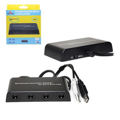 Wii U 4 Port GameCube Controller & PC USB Adapter (Mayflash) W012