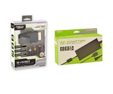Xbox 360 Slim AC Adapter & S-Video AV Cable Bundle (KMD)
