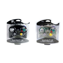 [2 pcs] Gamecube Rumble Analog Controller Pad - Blk & Clear (TTX Tech)