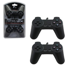 PC Turbo Rumble Gamepad 2 Controller Pack 12 Buttons Black (TTX Tech)