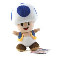 "Blue Toad - Super Mario Bros 8"" Plush (San-Ei) 1588"