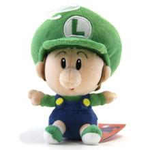 """Baby Luigi - Super Mario Bros 5"""" Plush (San-Ei) 1248"""
