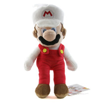 "Fire Mario - Super Mario Bros 10"" Plush (San-Ei) 1420"