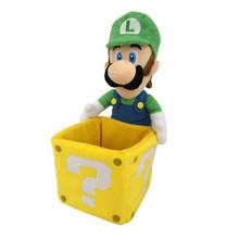 "Luigi with Coin Box - Super Mario Bros 9"" Plush (San-Ei) 1350"