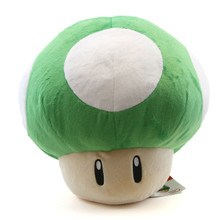 "1UP Green Mushroom - Super Mario Bros 13"" Plush (San-Ei) 1397"