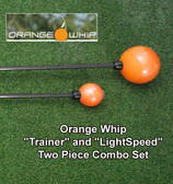 Orange Whip Golf Trainer & LightSpeed TWO 2pc Combo Set Training Aid - NEW