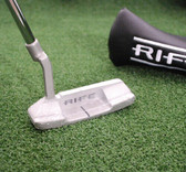 Rife Golf Enzo Blade Putter Satin Sterling Finish 35 Inch - NEW