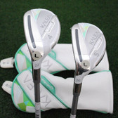 TaylorMade LEFT HAND Kalea 4h & 5h Rescue Hybrids 2pc Matched Set Ladies NEW