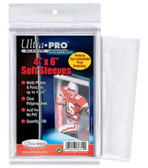 "Ultra Pro 4"" x 6"" Soft Sleeves protection for photos and postcards, 100 count"