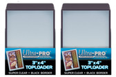 """50 Ultra Pro 3"""" x 4"""" Toploaders with Black Border sports card storage protection"""