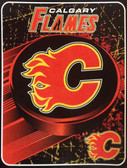 "Calgary Flames 46"" x 60"" NHL Micro Raschel Plush Throw Blanket"