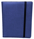 Legion 20 Page Side-Loading Dragon-Hide Textured Binder: Blue