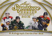 2015 Leaf Signature Hockey Cards Hobby Box of Autpographs