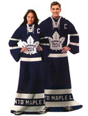 NHL Toronto Maple Leafs Captain Comfy Throw - The Blanket With Sleeves