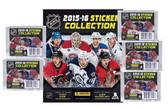 2015-16 Panini NHL Hockey Stickers Starter Kit with 5 Packs plus Sticker Album