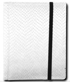 Legion 4-Pocket 20 Page Side-Loading Dragon-Hide Textured Binder: White (Grey)