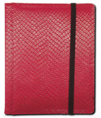 Legion 4-Pocket 20 Page Side-Loading Dragon-Hide Textured Binder: Red