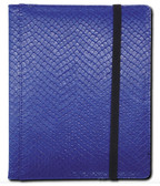 Legion 4-Pocket 20 Page Side-Loading Dragon-Hide Textured Binder: Blue