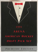 1991 Arena American Hockey Draft Pick Premiere Edition Factory Set of 33 cards