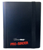 Black 2-Pocket Side-Loading Ultra Pro Pro-Binder
