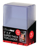 "10 Count Ultra Pro 3"" X 4"" 130 pt Super Thick Toploaders for sports cards"
