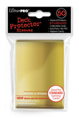 Ultra Pro Opaque Gold 50 Count Pack Standard Size Gaming Deck Protector Sleeves